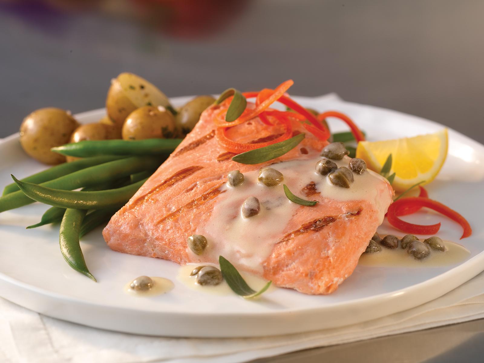 Redi Grilled™ Alaskan Sockeye Salmon Ptn VP 4 oz (1/10 lb) 415192