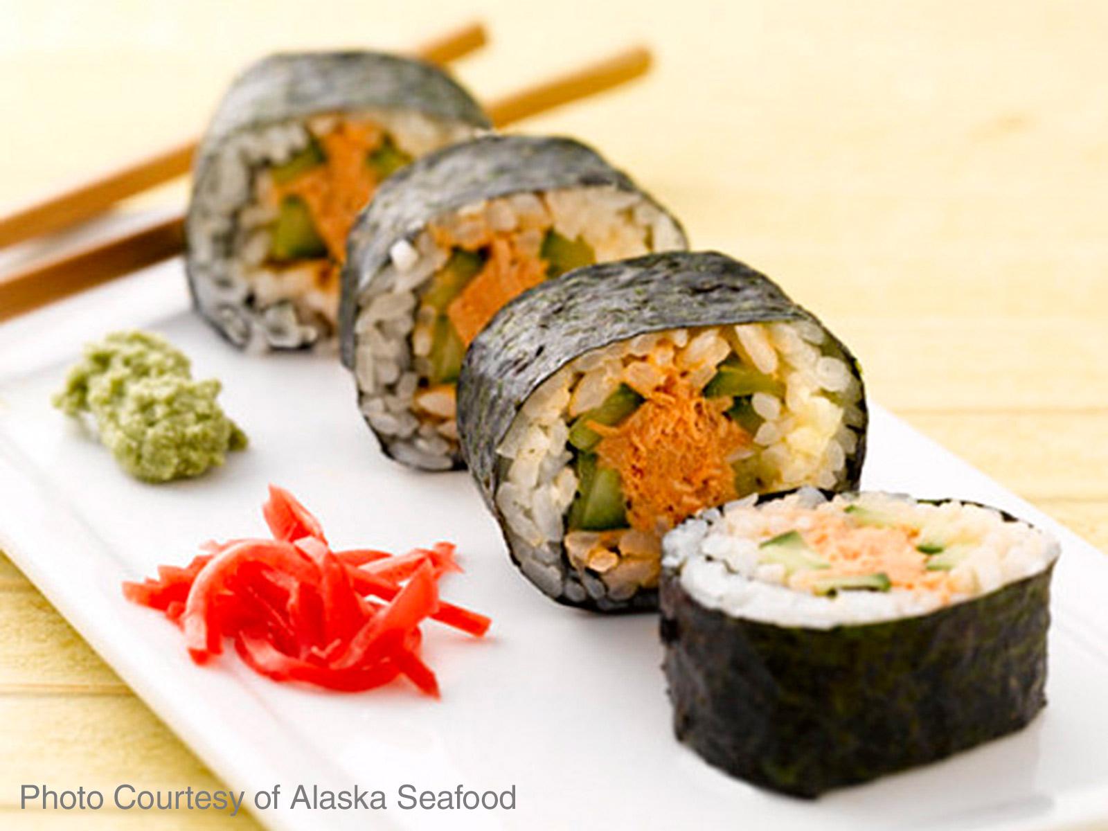 Alaska Salmon Sushi