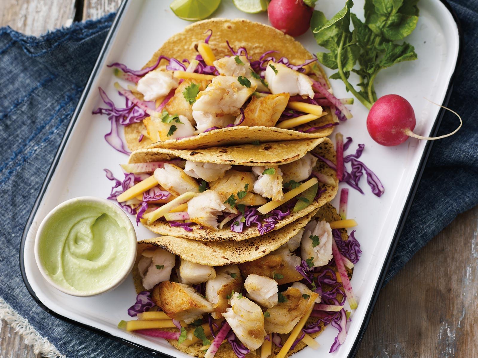 Asian Fusion Wild Alaska Pollock Tacos