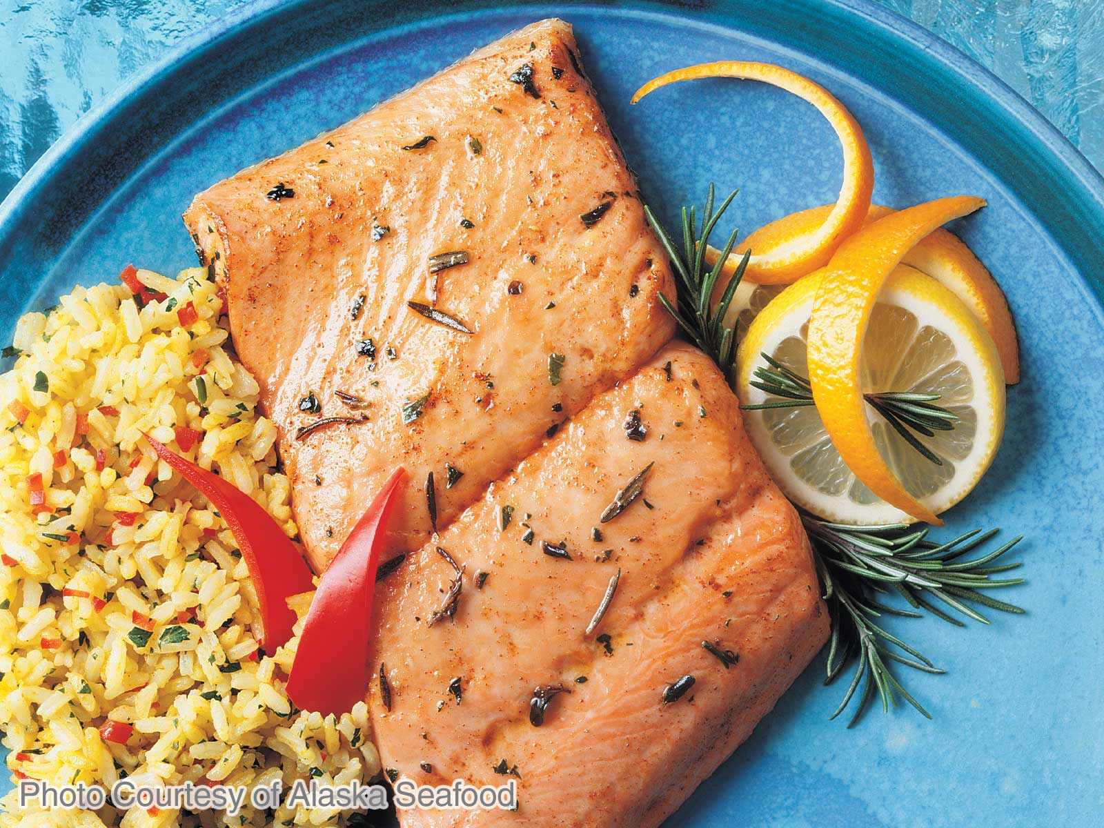 Rosemary Broiled Alaska Salmon