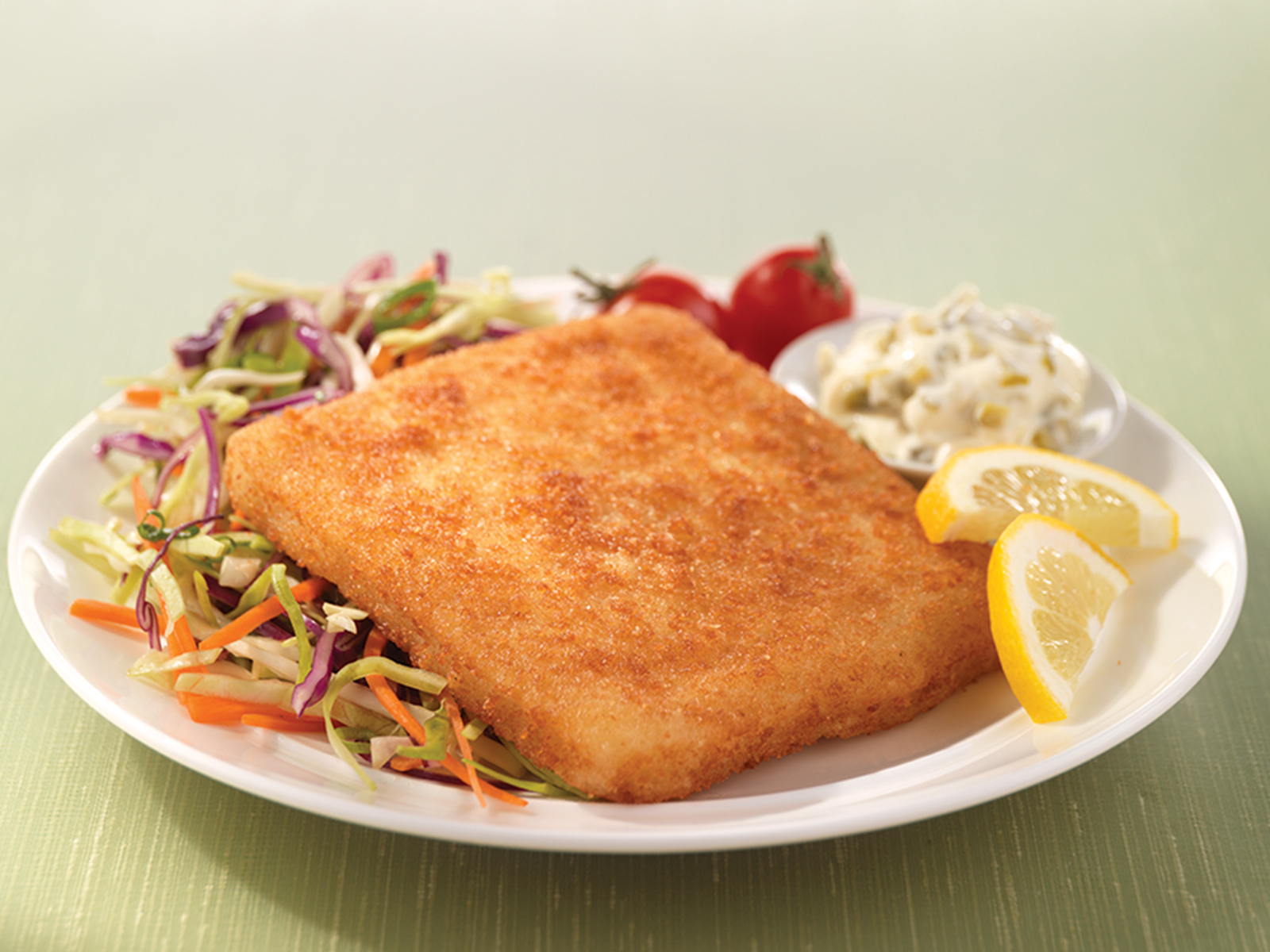 Seasoned Panko Breaded Wild Alaska Pollock Sandwich Portion 4 oz Oven Ready 417438