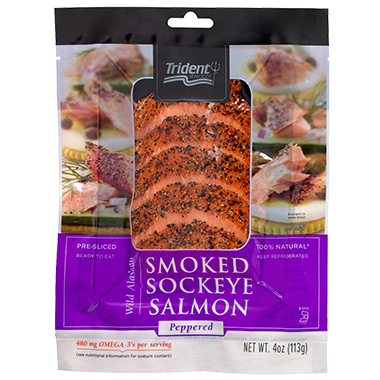 Trident Seafoods® Smoked Sockeye Salmon - Peppered 4 oz