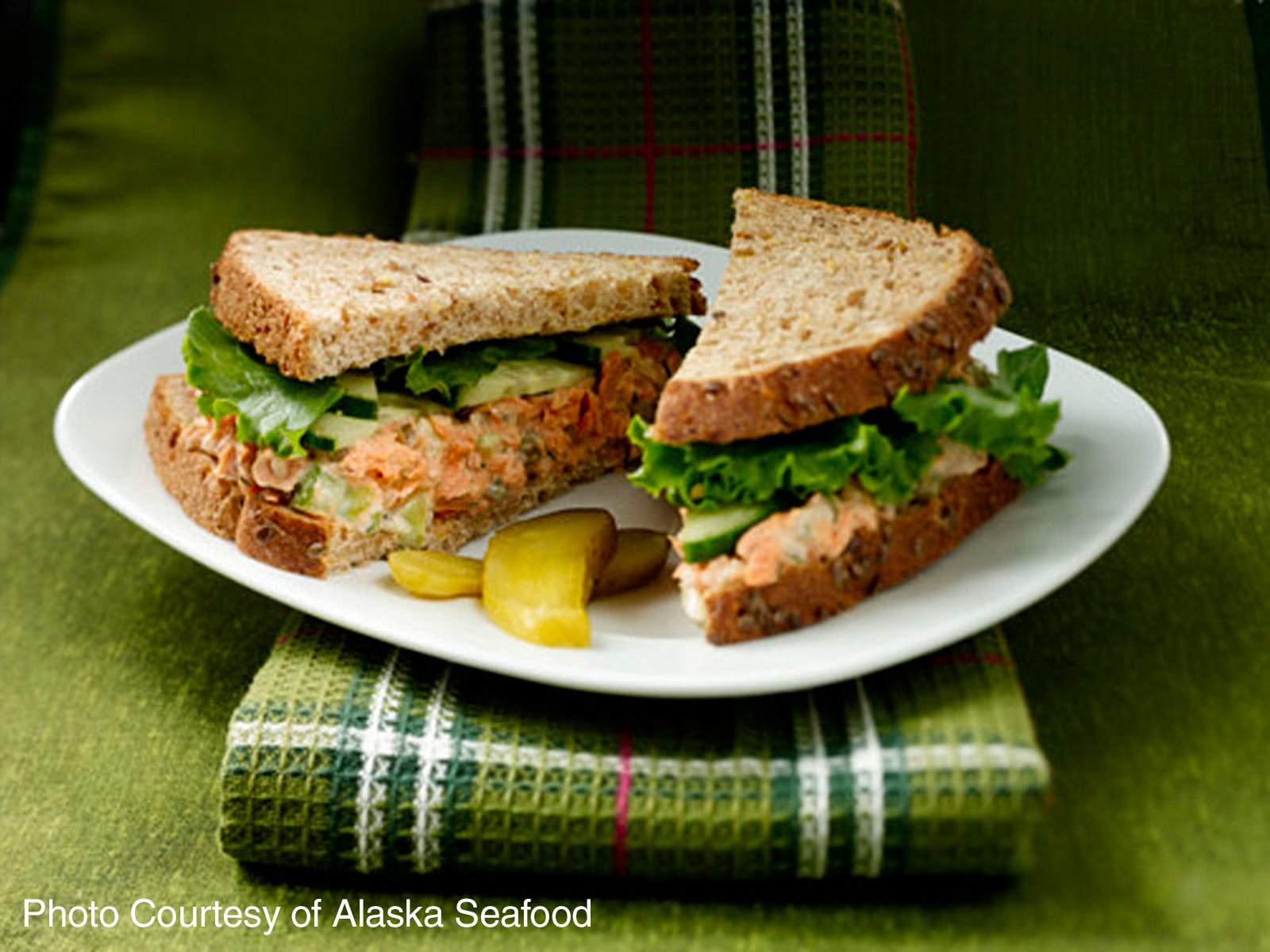 Alaska Salmon Salad Sandwiches