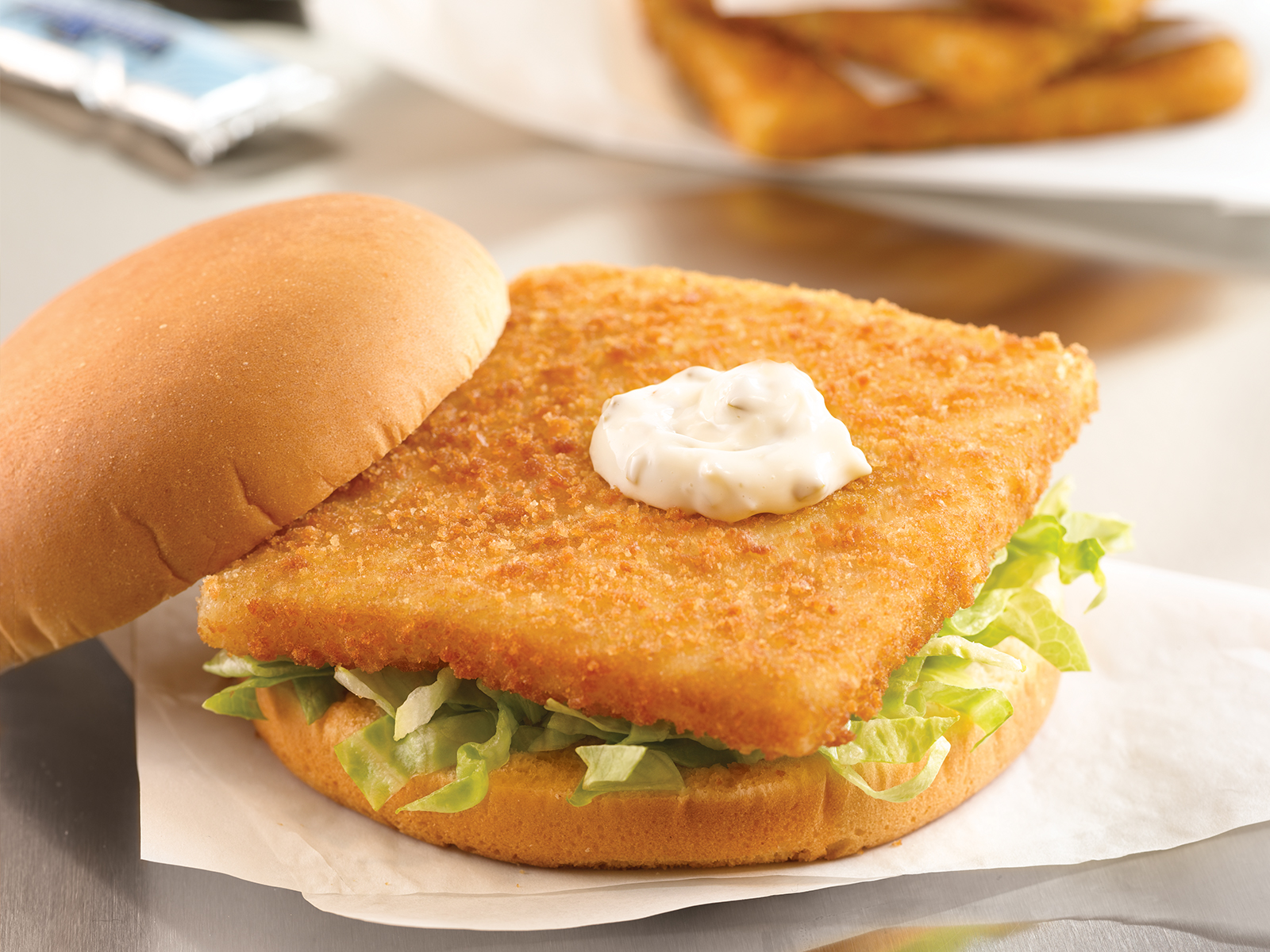 Cod Square Portions 4 oz Raw Breaded (1/10 lb) 412970