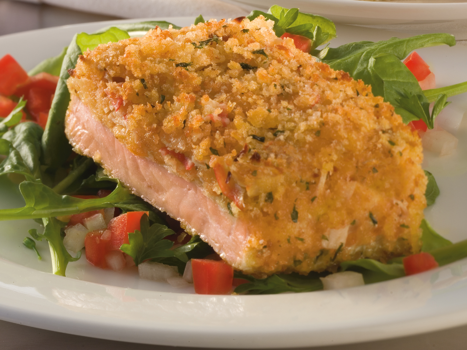 Crab Stuffed Alaskan Salmon Buffet Fillet Portions 4.4oz (1/10 lb) 472887