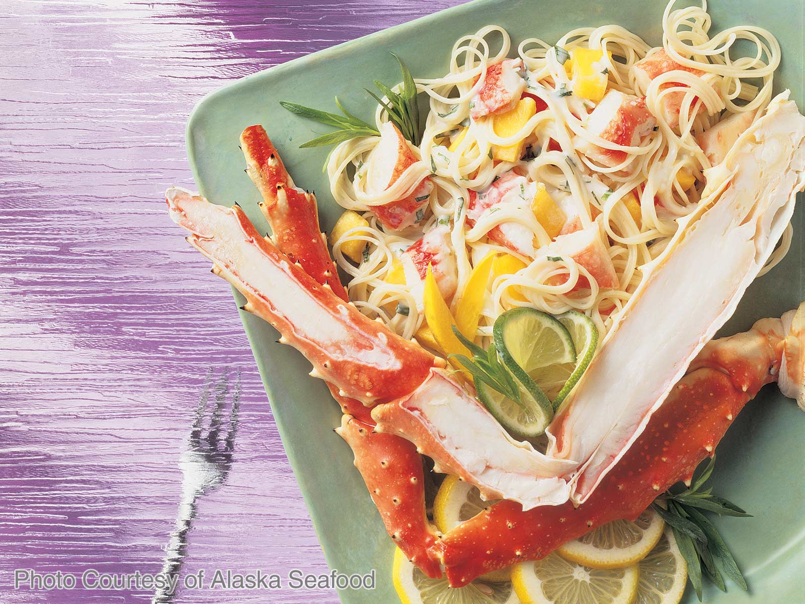 Angel Hair Pasta with Alaska King Crab
