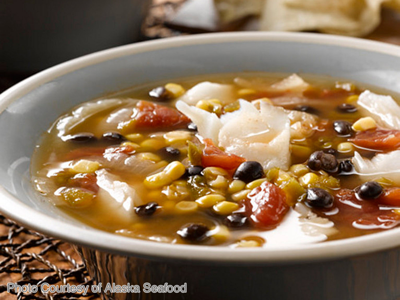 Cod Chowder with Black Beans and Corn