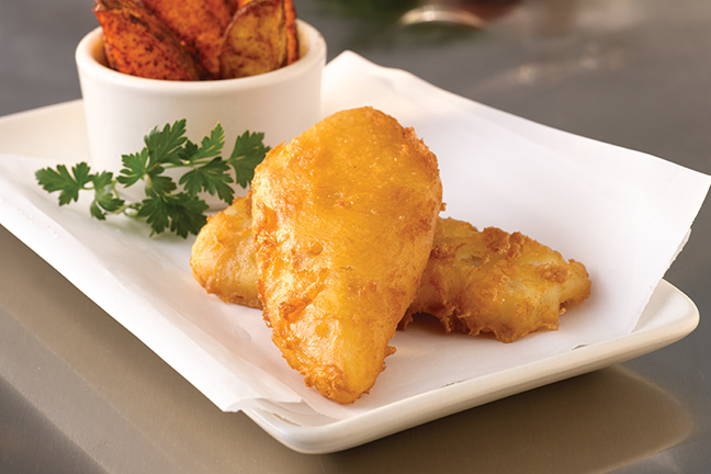 Alaskan® Amber Beer Battered Cod Fillets (1/10 lb) 414341