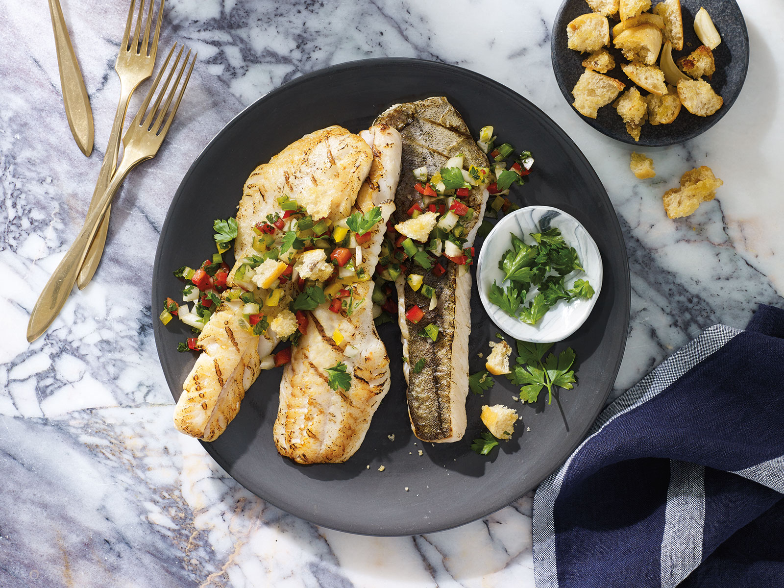 Grilled Wild Alaska Pollock with Brazilian Salsa