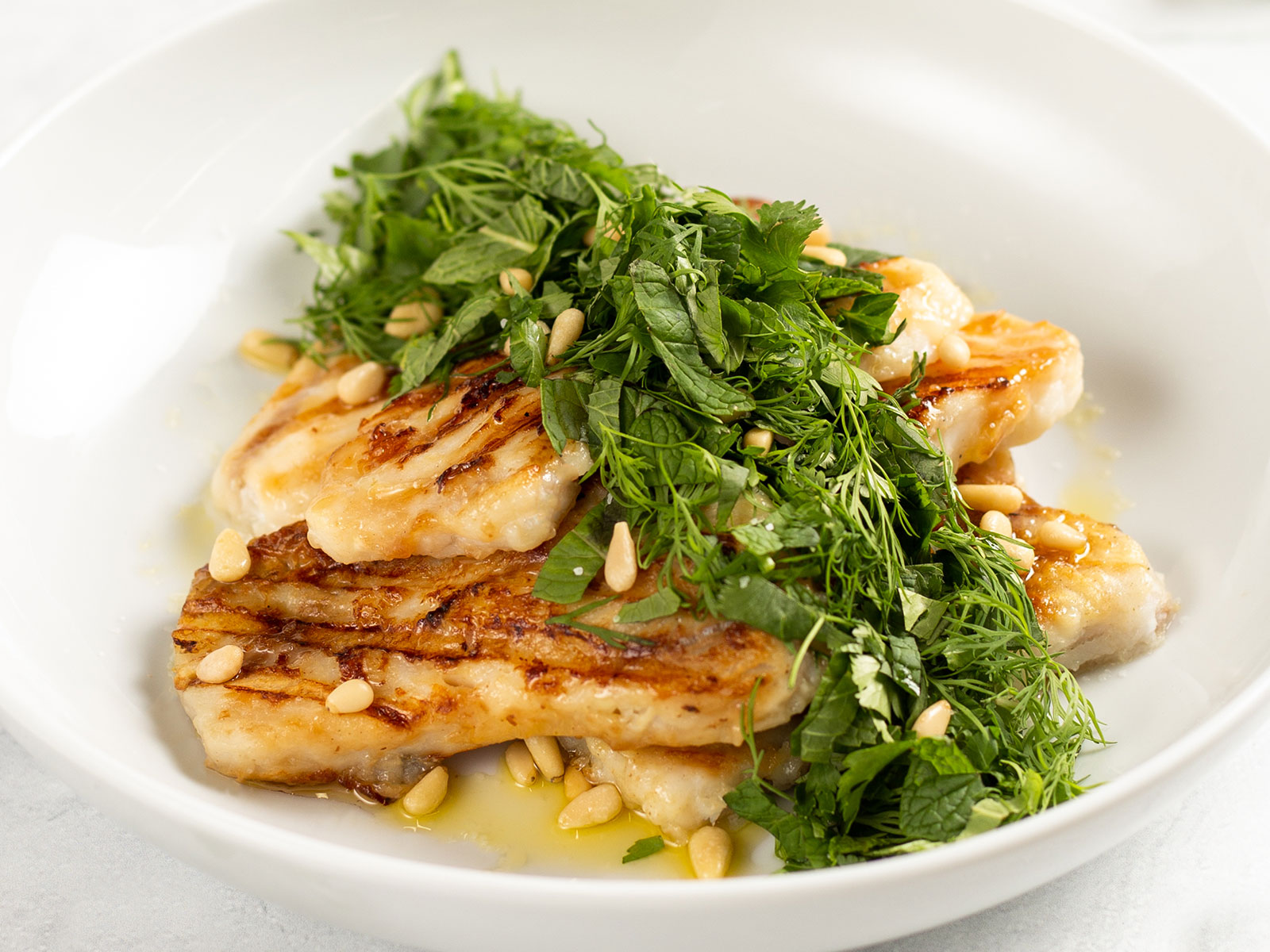 Simple Grilled Alaskan Pollock Fillets with Herbs