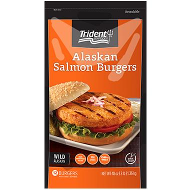 Trident Seafoods® Alaskan Salmon Burgers 3 lb