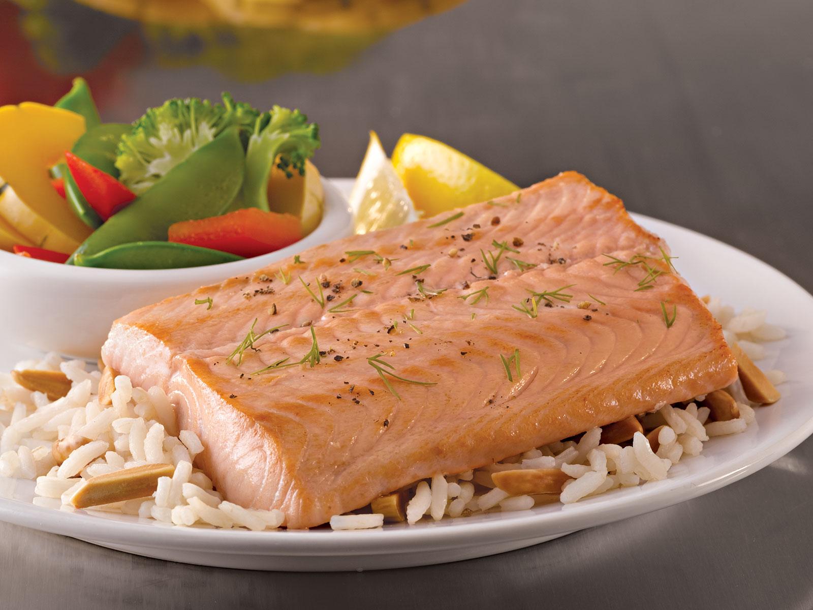 Seafest® Alaskan Pink Salmon Loins 4oz Skinless Pin Bone Out (1-10 LB) 417627