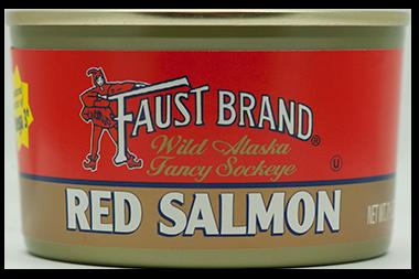 Faust Brand® Red (Sockeye) Salmon 24/7.5 oz