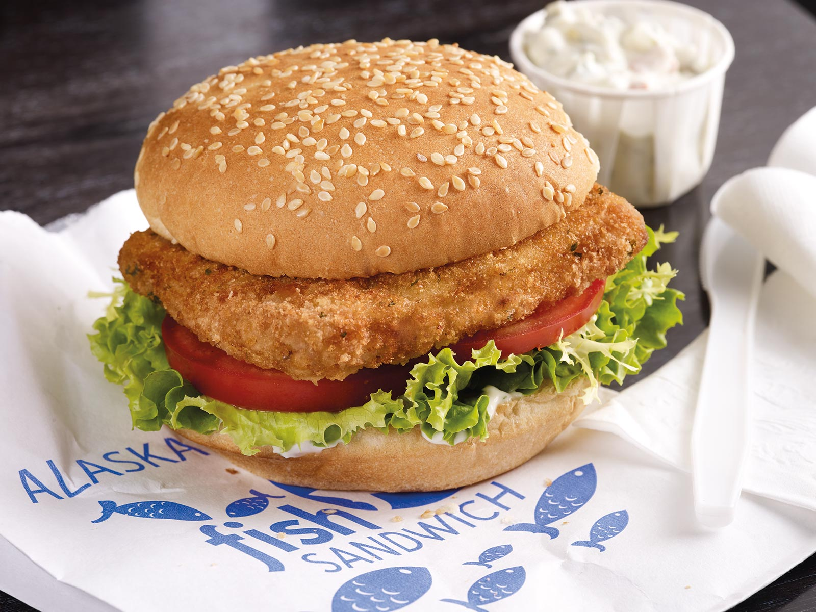 Wild Alaska Pollock Breaded Fish Sandwich 4 oz Oven Ready (with bags) 415642