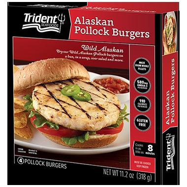 Trident Seafoods® Alaskan Pollock Burgers 11.2 oz