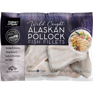 Trident Seafoods® Wild Caught Alaskan Pollock Fish Fillets 2.1 lb