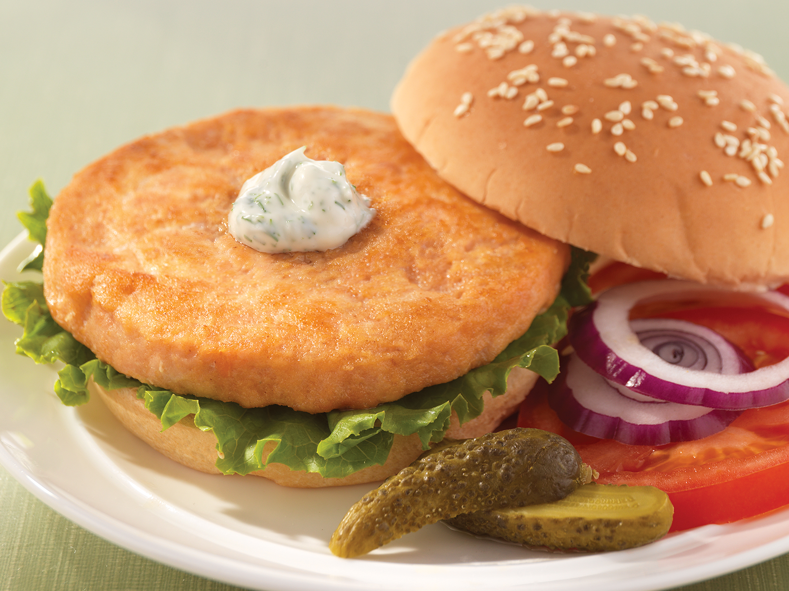 Alaskan Salmon Burger 5 oz (1/10 lb) 424785