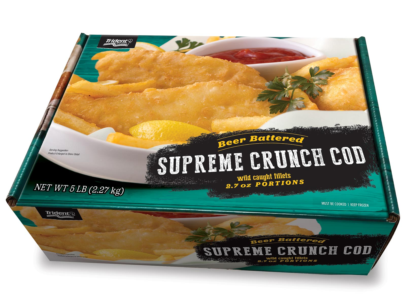 Beer Battered Supreme Crunch Cod 2.7 oz (1/5 lb) 423078