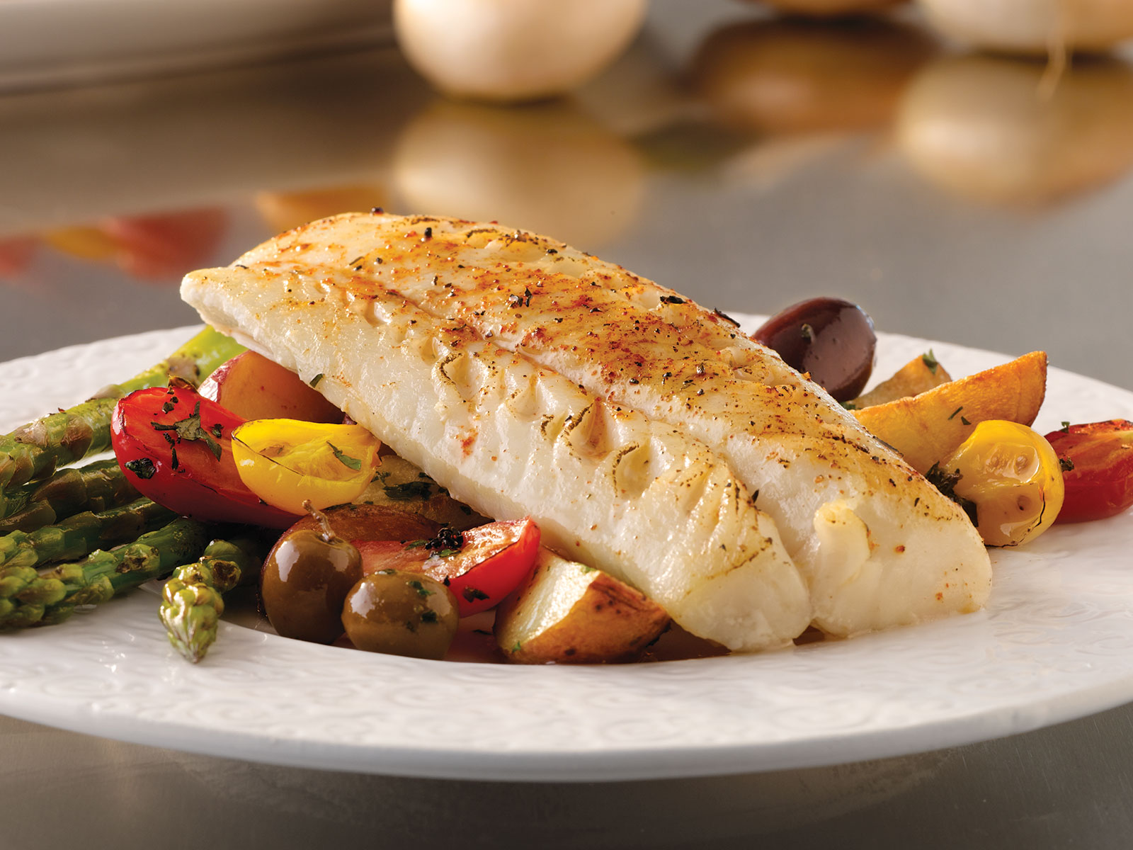 Seafest® Pacific Cod Loin Portions 6 oz IQF, Skinless, Boneless (1/10 lb) 492973