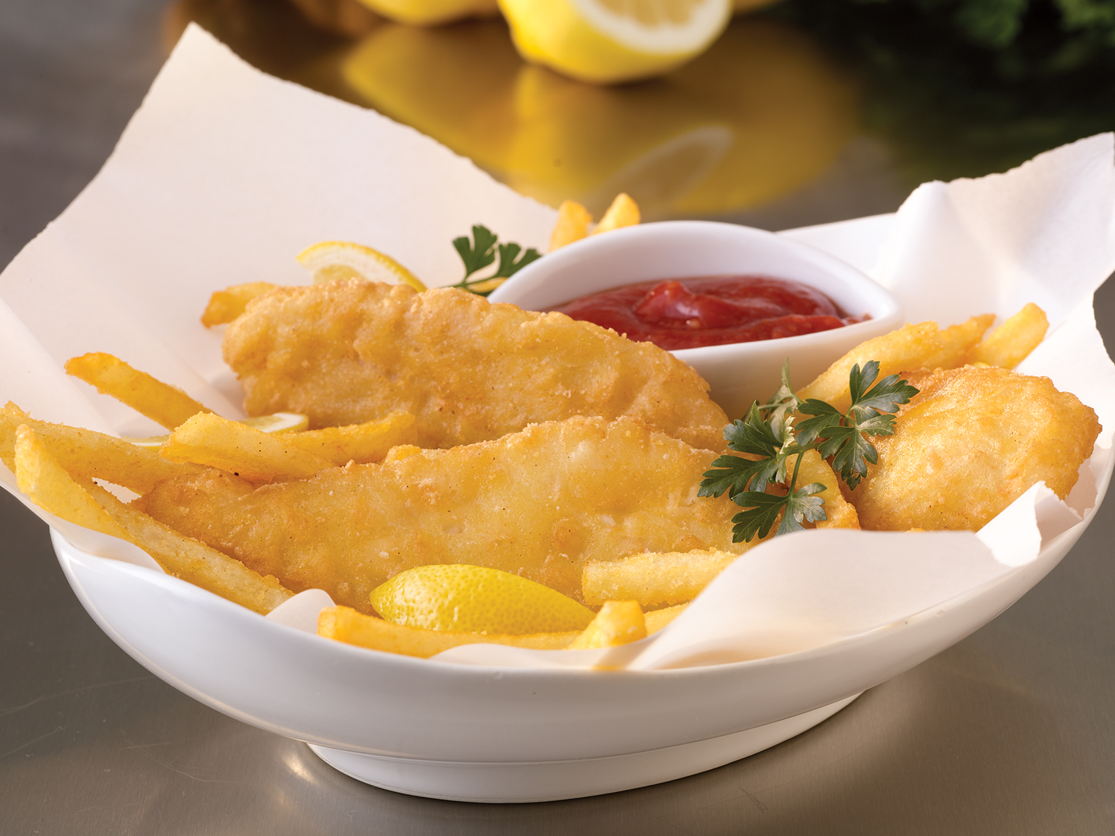Supreme Crunch Beer-Battered Cod Fillets 3 oz (1/10 lb) 413667