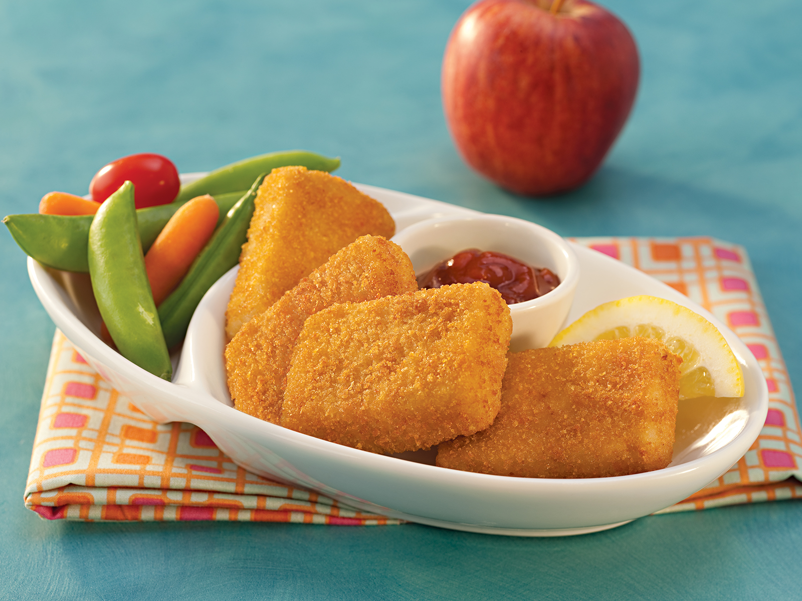 Breaded Wild Alaska Pollock Fish Nuggets 1 oz WG, Oven Ready 418305