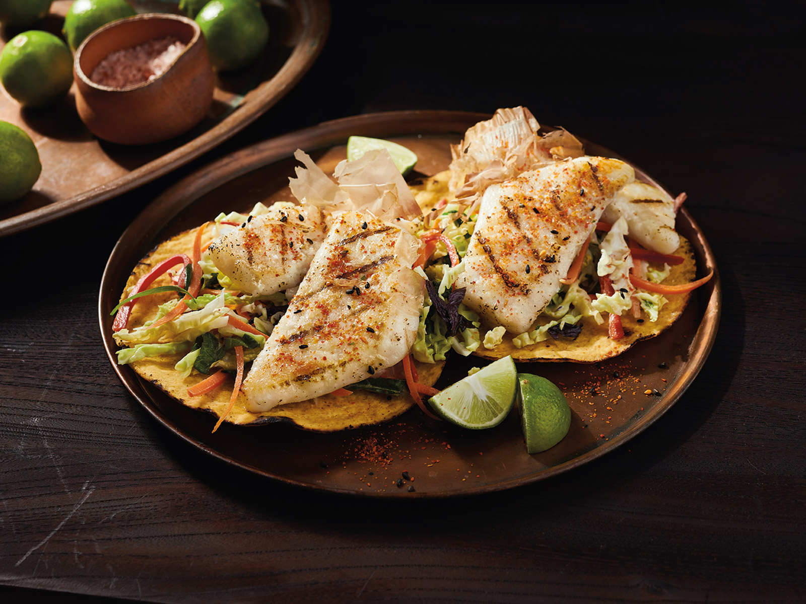 Asian Tostada with Grilled Wild Alaska Pollock