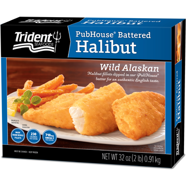 Trident Seafoods® PubHouse Battered Halibut 2 lb