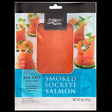 Trident Seafoods® Smoked Sockeye Salmon – Sea Salt Nova Style 4 oz