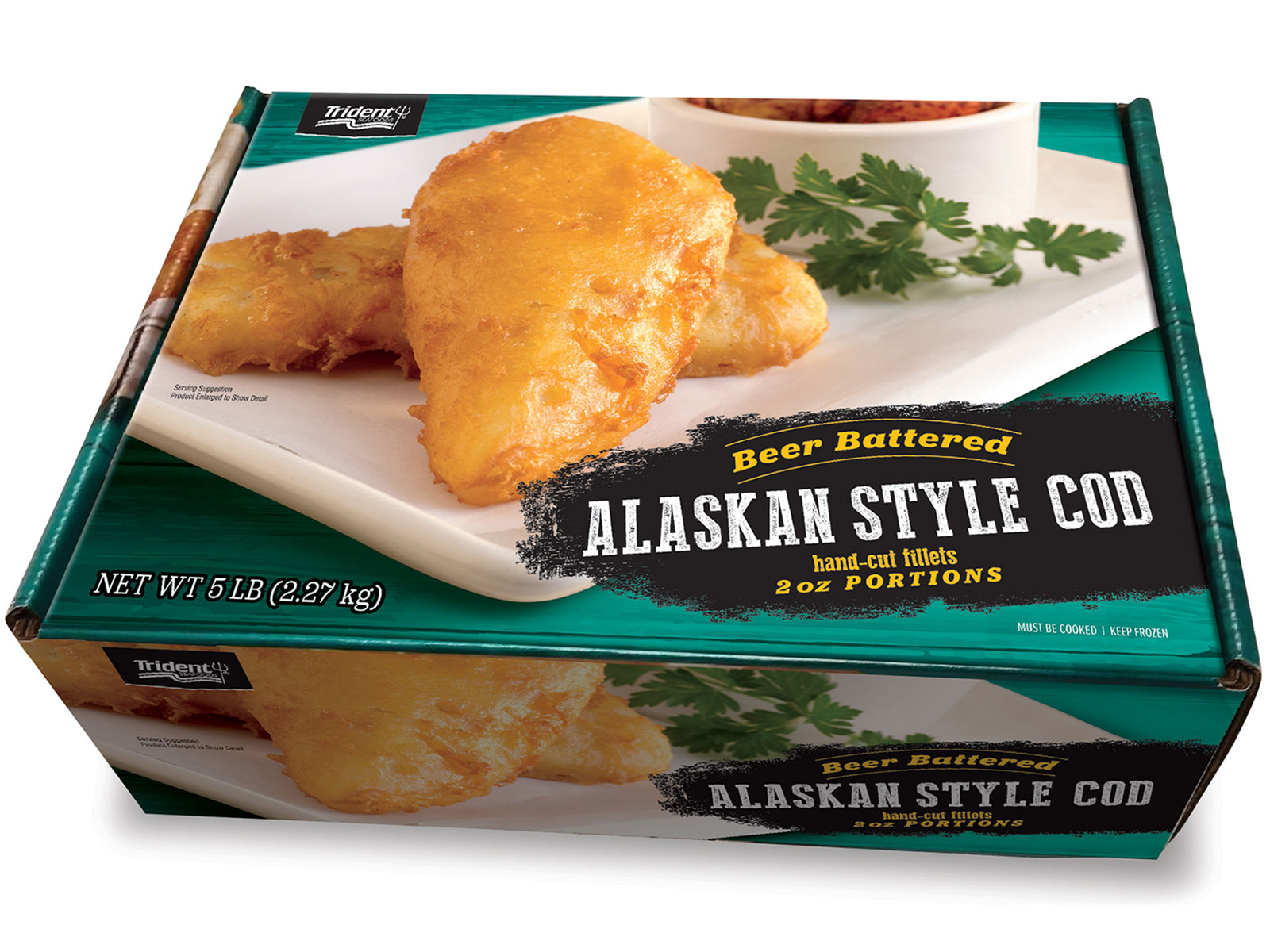 Alaskan Style Cod Beer Battered 2 oz (1/5 lb) 423077