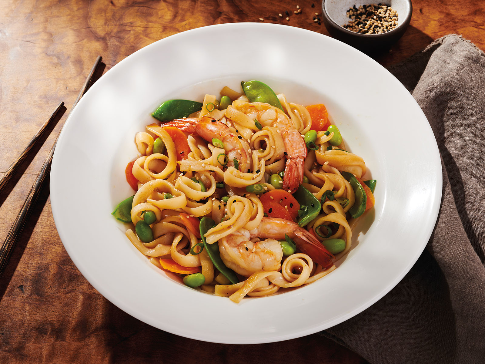 Protein Noodles in Teriyaki with Shrimp