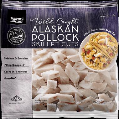 Trident Seafoods® Wild Caught Alaskan Pollock Skillet Cuts 1 lb