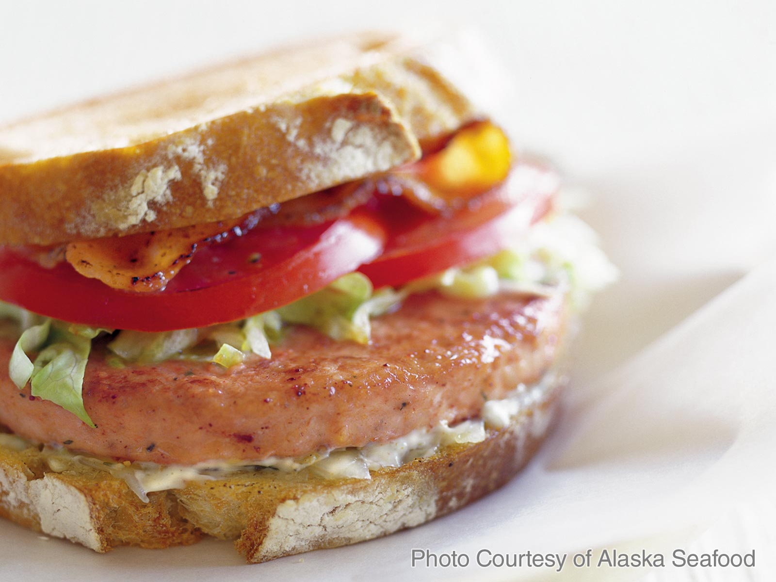 Alaskan Salmon Burger Club Sandwich