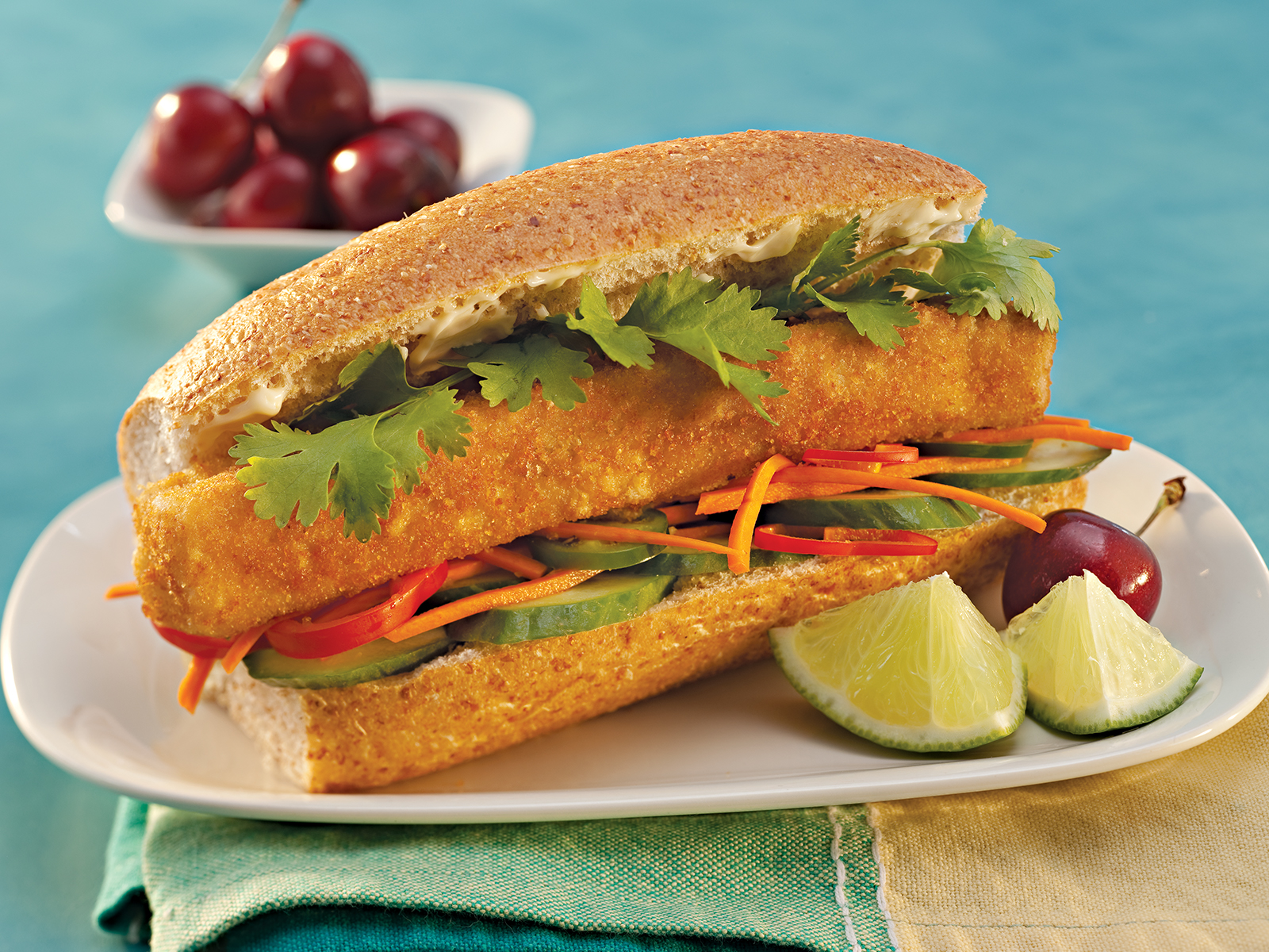 Breaded Wild Alaska Pollock Hoagie Portion 3.6 oz WG, Oven Ready 418318