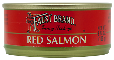 Faust Brand® Red (Sockeye) Salmon 48/3.75 oz