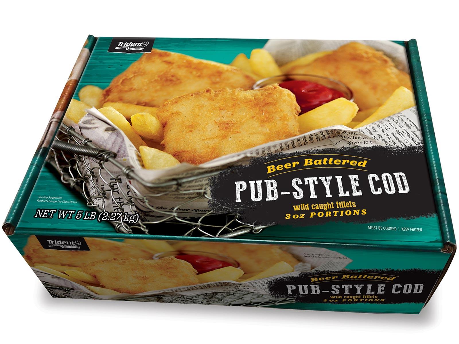 Pub-Style Beer Battered Cod 3 oz (1/5 lb) 423080