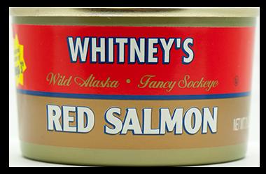 Whitney's® Red (Sockeye) Salmon 24/7.5 oz