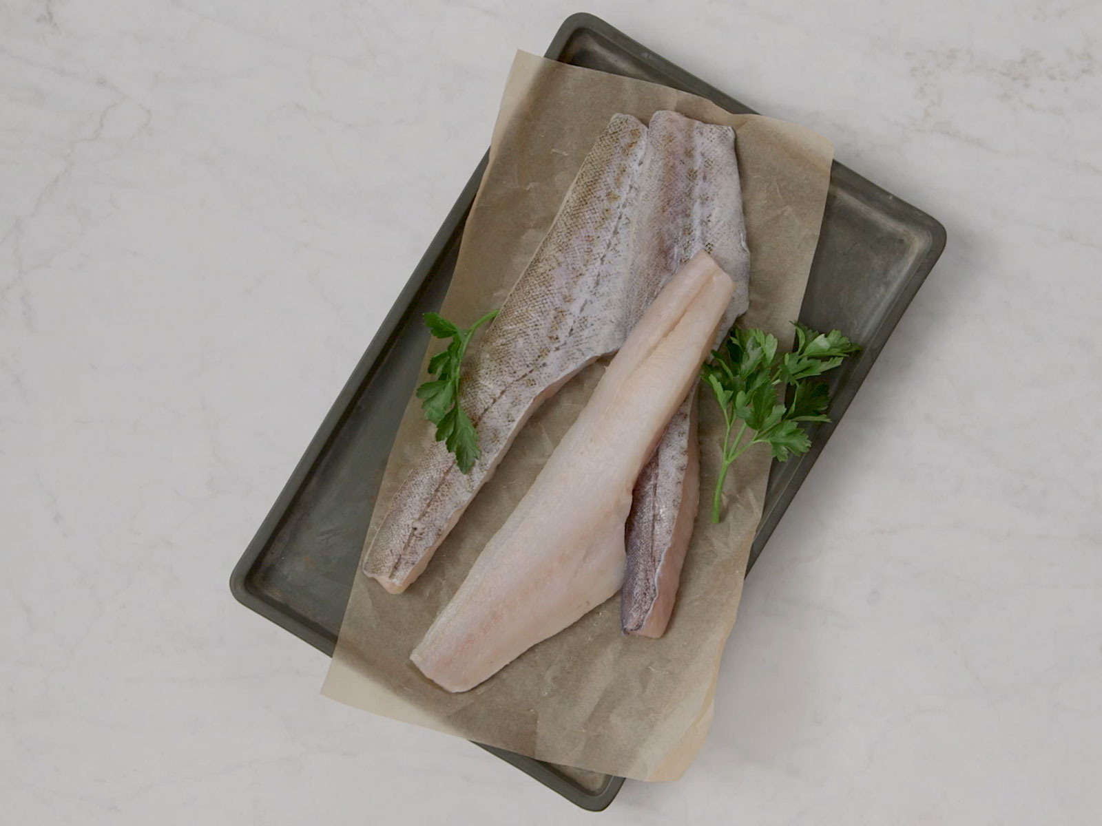 Wild Alaska Pollock Fillets 4-6 oz Skin-On, Boneless 422653