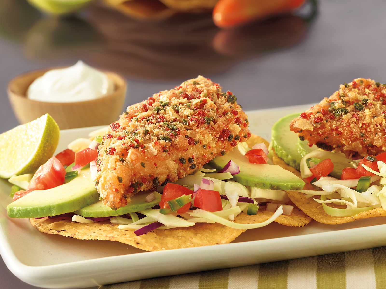 Tortilla Encrusted Wild Alaska Pollock Portions 1-2 oz Raw Breaded 420473