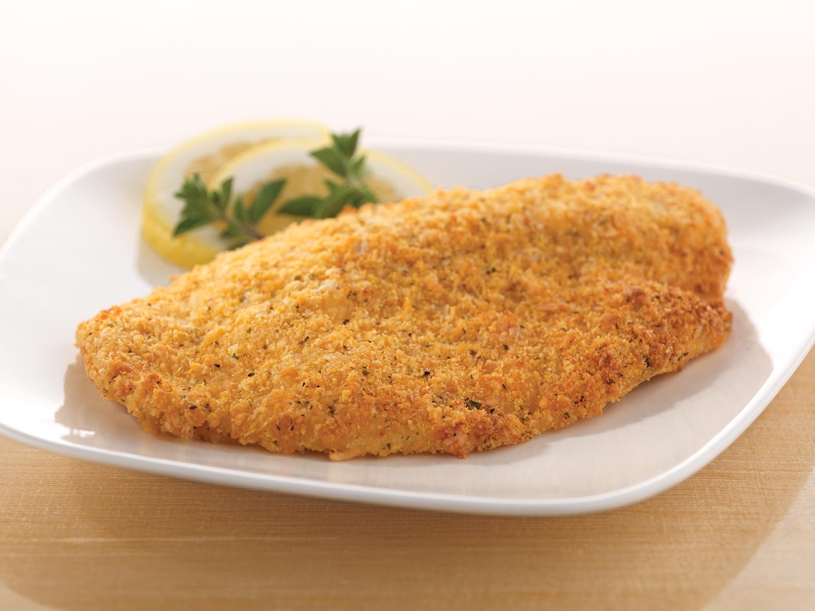 Parmesan Encrusted Tilapia 5 oz (1/10 lb) 417492