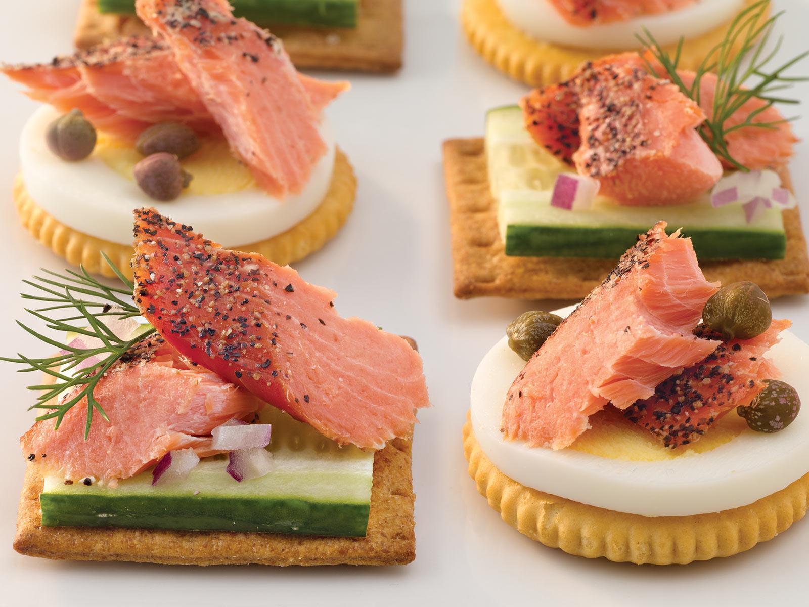 Trident Seafoods® Smoked Sockeye Salmon - Peppered 4 oz