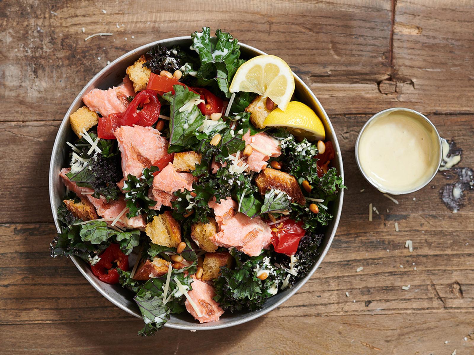 Starboard Sockeye Kale Caesar Salad