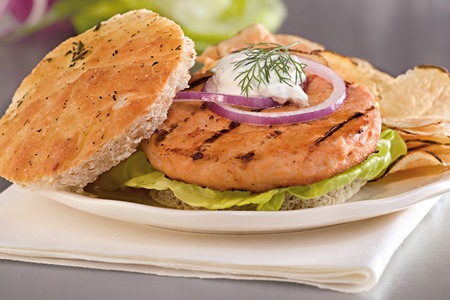 Alaskan Salmon Burger 4oz (1/10 lb) 432207