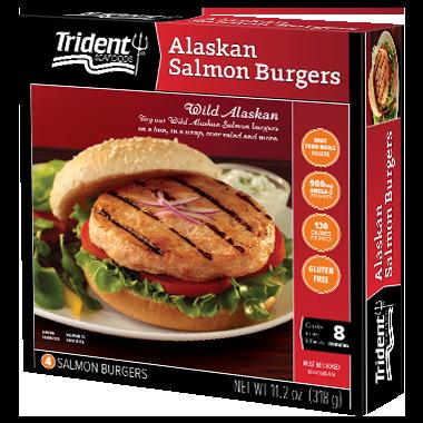 Trident Seafoods® Alaskan Salmon Burgers 11.2 oz