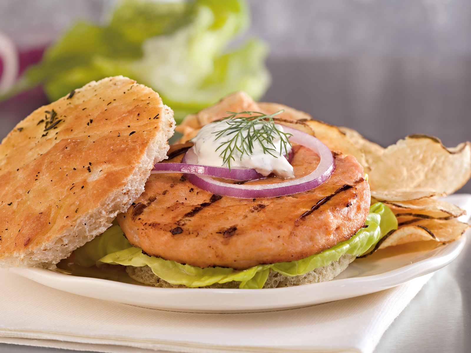 Alaskan Salmon Burger 3.2 oz (1/10 lb) 468288