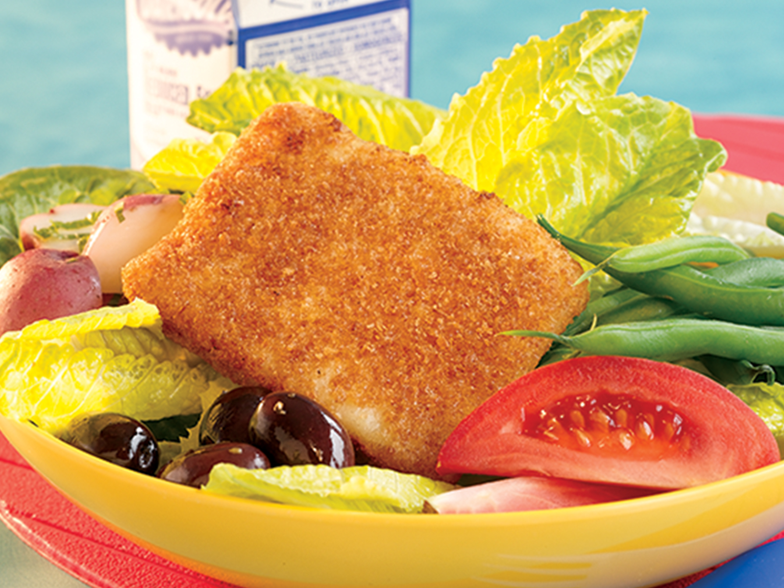 Breaded Wild Alaska Pollock Portions 3.6 oz WG, Oven Ready 418302