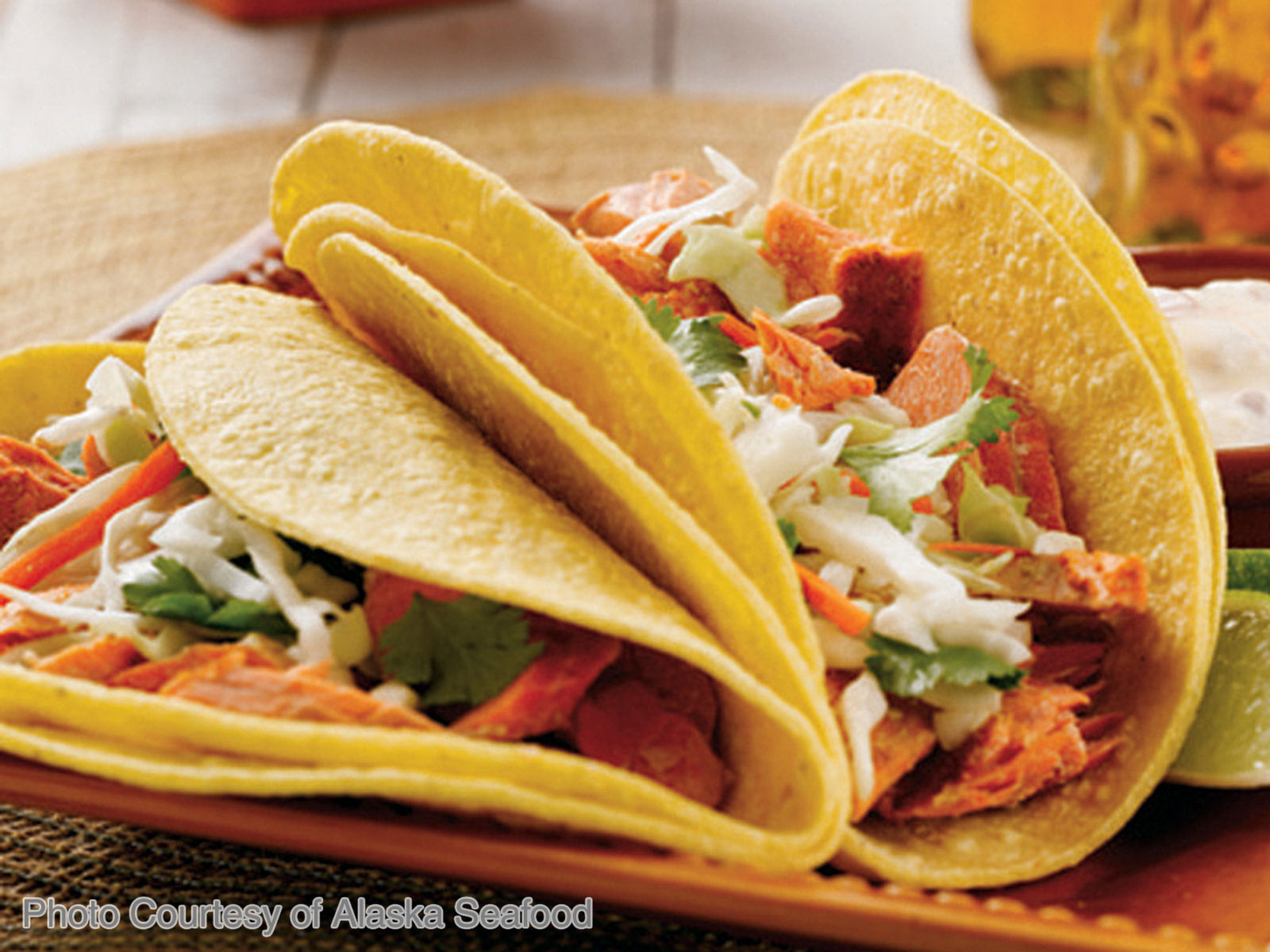 Alaskan Salmon Burger Tacos