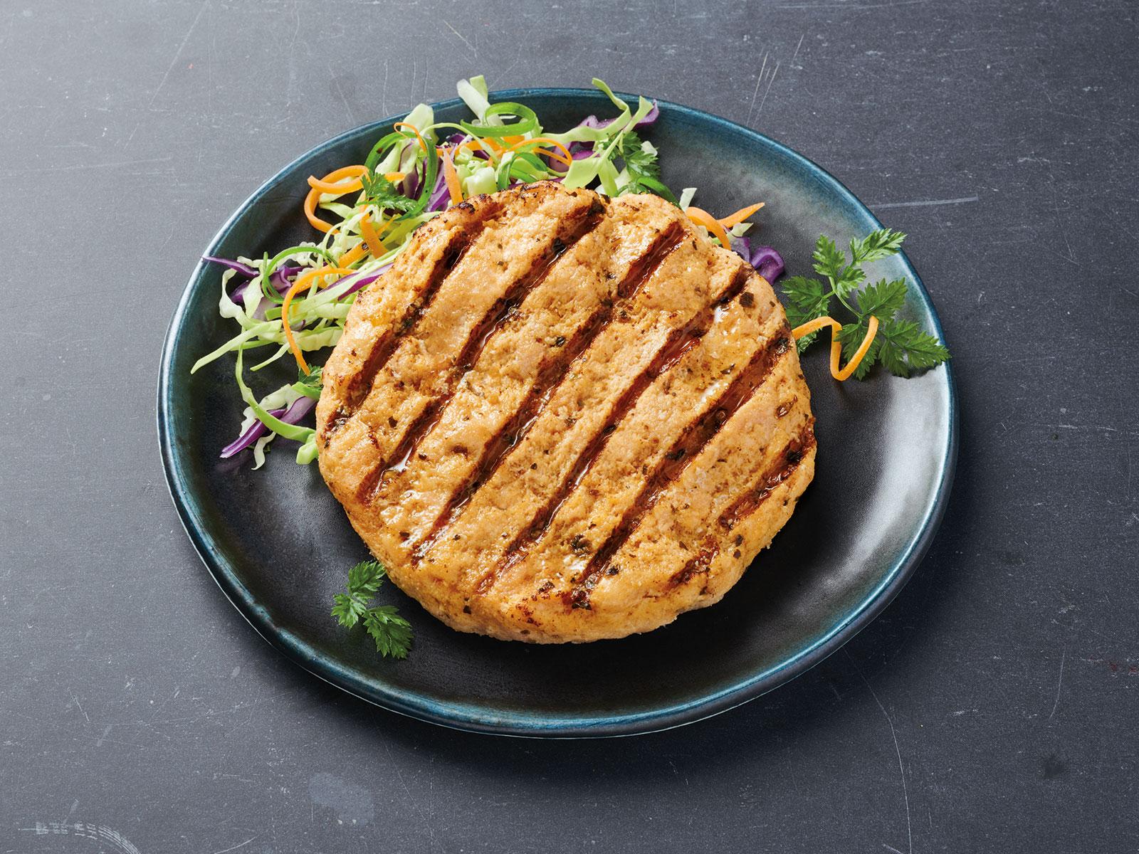 Redi Grilled™ Grill Marked Wild Alaska Salmon Burger 3.8 oz IQF 428920