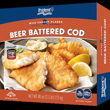 Trident Seafoods® Beer Battered Cod 2.5 lb
