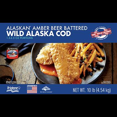 Alaskan® Amber Beer Battered Wild Alaska Cod 10 lb