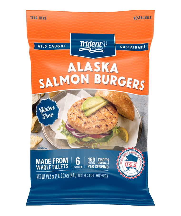 Trident Seafoods® Alaska Salmon Burgers 1 lb 3.2 oz